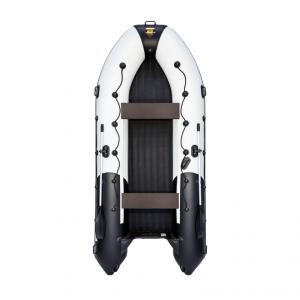 Лодка ПВХ Ривьера 4000 НДНД Гидролыжа надувное дно низкого давления